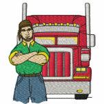 Los camioneros de encargo bordaron la camisa sudadera con capucha