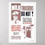 Los camioneros de la leche sean WPA cuidadoso 1940 Impresiones