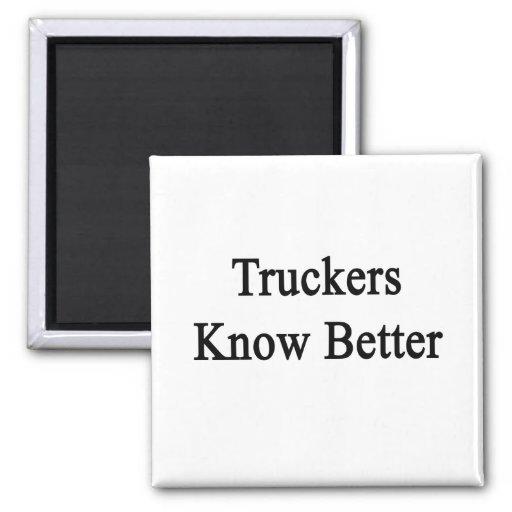 Los camioneros saben mejor imán para frigorifico