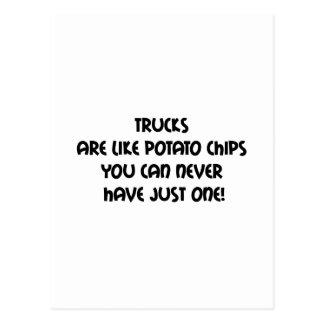 Los camiones son como las patatas fritas que usted tarjetas postales