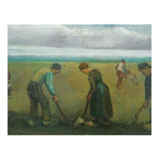 Los campesinos o los granjeros de Van Gogh que pla Tarjetas Publicitarias