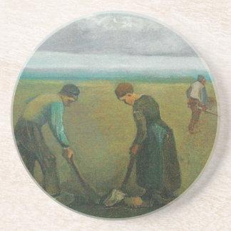 Los campesinos o los granjeros de Van Gogh que pla Posavasos Cerveza