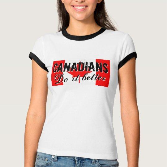 Los canadienses mejora la camiseta