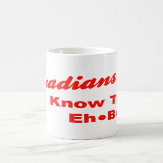 Los canadienses saben su Eh las tazas de café de B