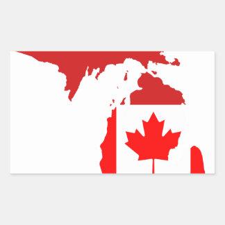 Los canadienses viven o trabajan en Michigan Rectangular Altavoces