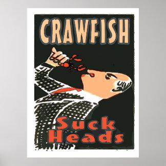 Los cangrejos, chupan las cabezas, póster