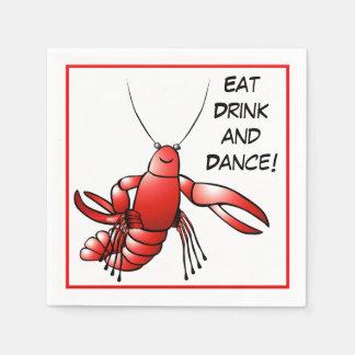 Los cangrejos de los cangrejos del fiesta de la eb servilleta de papel