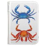 Los cangrejos del rojo azul encienden la caja