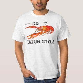 los cangrejos lo hacen estilo de Cajun Playeras
