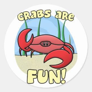 Los cangrejos son pegatinas de la diversión