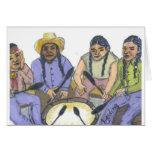Los cantantes tarjeta