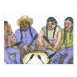 Los cantantes tarjetas postales