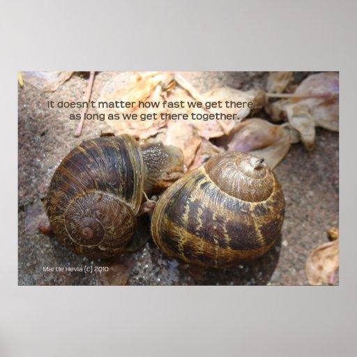 Los caracoles en amor imprimen - enmarcado/Unframe Posters