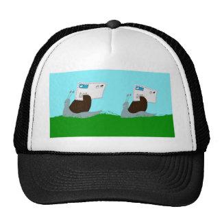 Los caracoles enrrollados entregan el correo enrro gorras