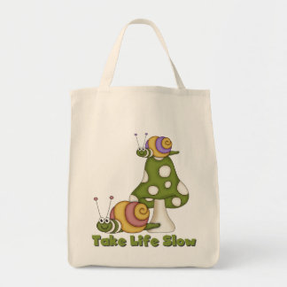 Los caracoles toman a vida las camisetas y los reg bolsas