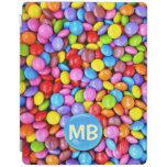 Los caramelos coloridos personalizan la foto cubierta de iPad