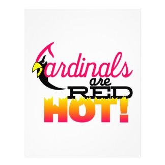 Los cardenales están candentes membrete personalizado