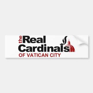 Los cardenales reales de la Ciudad del Vaticano Etiqueta De Parachoque