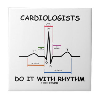 Los cardiólogos lo hacen con el ritmo (ECG/EKG) Azulejos Cerámicos