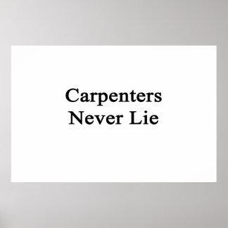 Los carpinteros nunca mienten posters