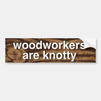 los carpinteros son nudosos -- pegatina para el pegatina para coche