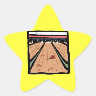 Los carriles de los bolos pegatina en forma de estrella