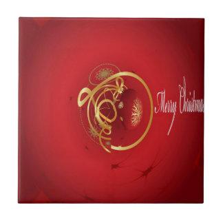 Los cascabeles rojos del navidad tienen Niza un dí Azulejos Ceramicos