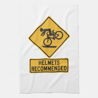 Los cascos recomendaron 2, señal de peligro del toallas