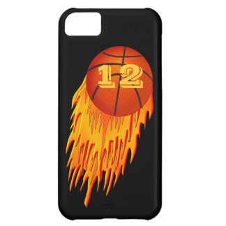 los casos del baloncesto del iPhone 5C con SU jers