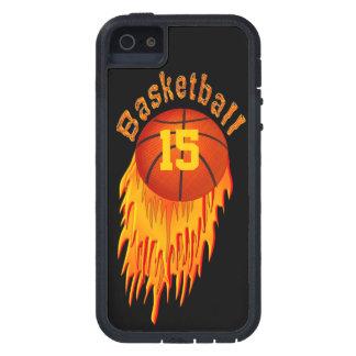 los casos del baloncesto del iPhone 5S con SU jers iPhone 5 Cobertura