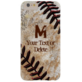 Los casos del iPhone del béisbol personalizaron el Funda De iPhone 6 Plus Barely There