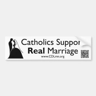 Los católicos apoyan boda real pegatina de parachoque
