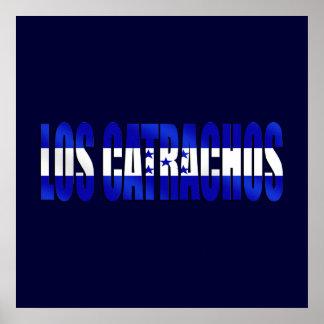Los Catrachos logo flag of Honduras futbol gifts Poster