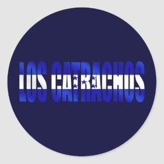 Los Catrachos logo flag of Honduras futbol gifts Round Sticker