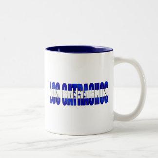 Los Catrachos logo flag of Honduras futbol gifts Two-Tone Coffee Mug
