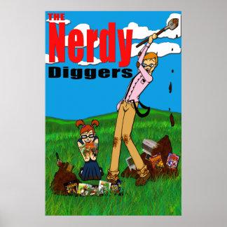 Los cavadores Nerdy - logotipo estándar - poster 2