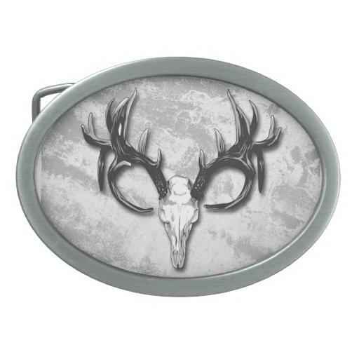 Los cazadores al aire libre sirven la hebilla del hebilla de cinturon oval