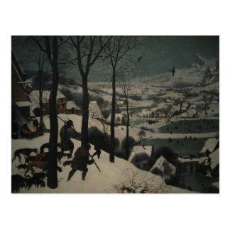 Los cazadores de Bruegel en la nieve Tarjeta Postal
