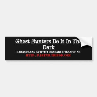 Los cazadores del fantasma lo hacen en el acto osc pegatina para auto