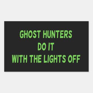 Los cazadores del fantasma lo hacen pegatina rectangular