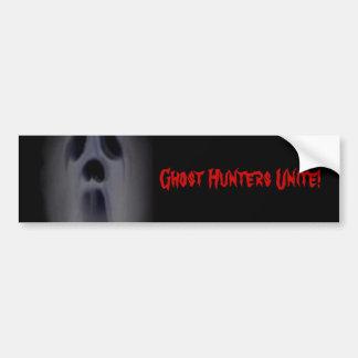 Los cazadores del fantasma unen pegatina de parachoque