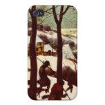 Los cazadores en la nieve - 1565 iPhone 4 protectores