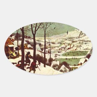 Los cazadores en la nieve - 1565 colcomanias ovaladas