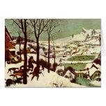 Los cazadores en la nieve - 1565 tarjeta pequeña