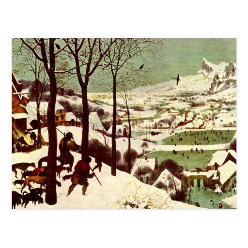 Los cazadores en la nieve - 1565 tarjeta postal