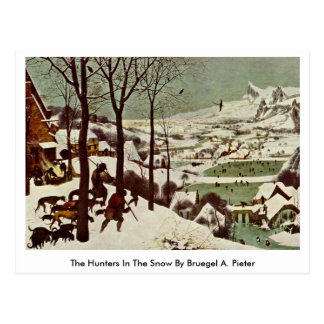 Los cazadores en la nieve por Bruegel A Pieter Tarjeta Postal