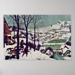Los cazadores en la nieve, por Bruegel D. Ä. Póster