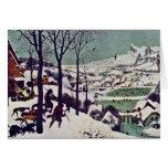 Los cazadores en la nieve, por Bruegel D. Ä. Tarjeta De Felicitación