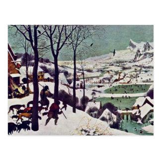 Los cazadores en la nieve, por Bruegel D. Ä. Tarjeta Postal