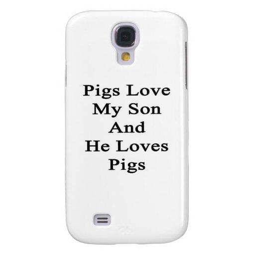 Los cerdos aman a mi hijo y él ama cerdos